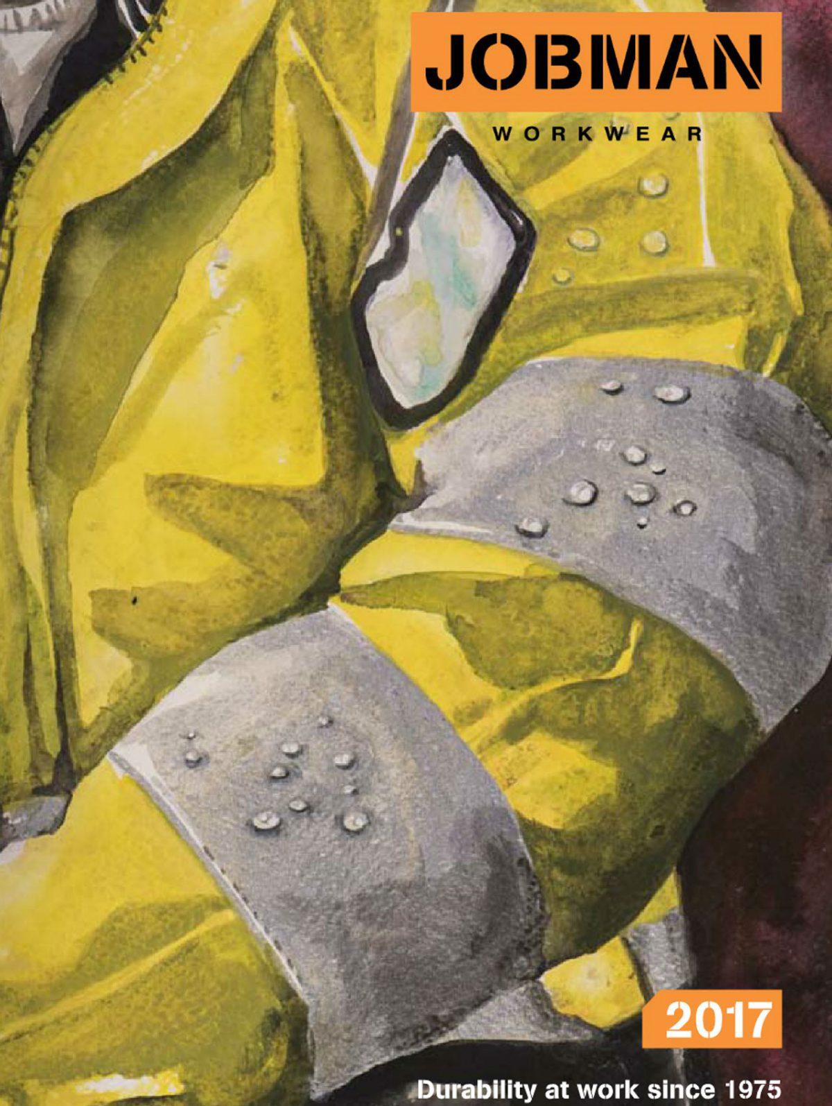 jobman gul industrijakke tegning